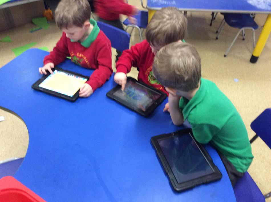 We practised our ICT skills on the iPads...
