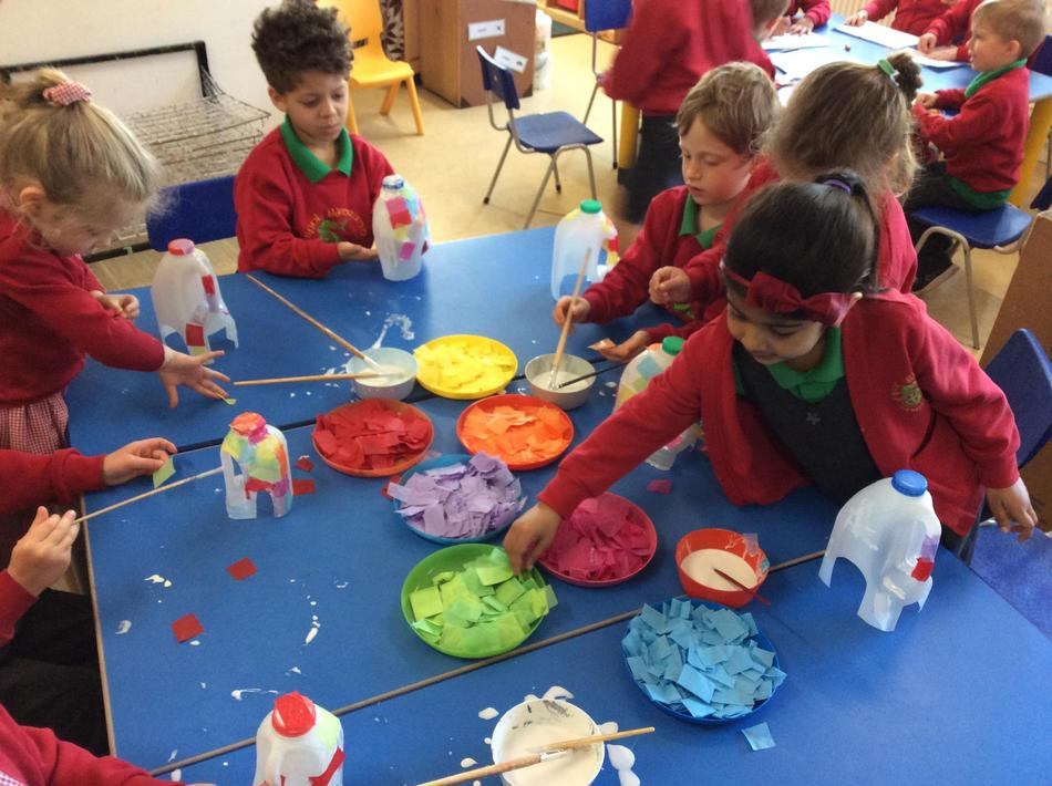 We've loved making our milk jug Elmers! It's been one of our favourite activities!