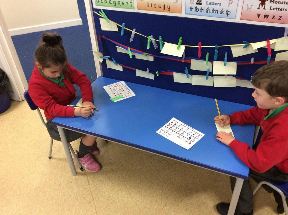 We wrote notes of kindness to a friend as part of a post-it note challenge!