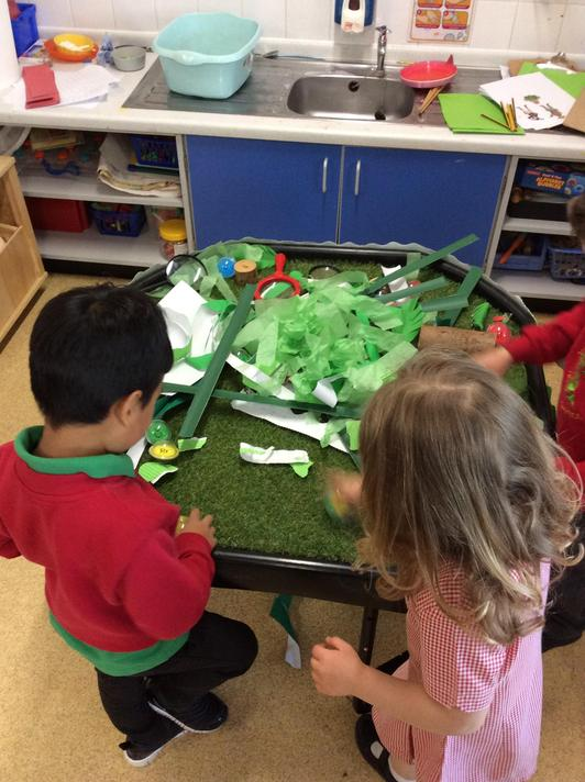 We went on an letter hunt and wrote all the Jungle things we could think of for each one.
