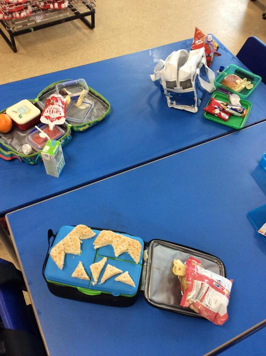 The Selfish Crocodile came to lunch on Friand tried to help us with our tricky packets!