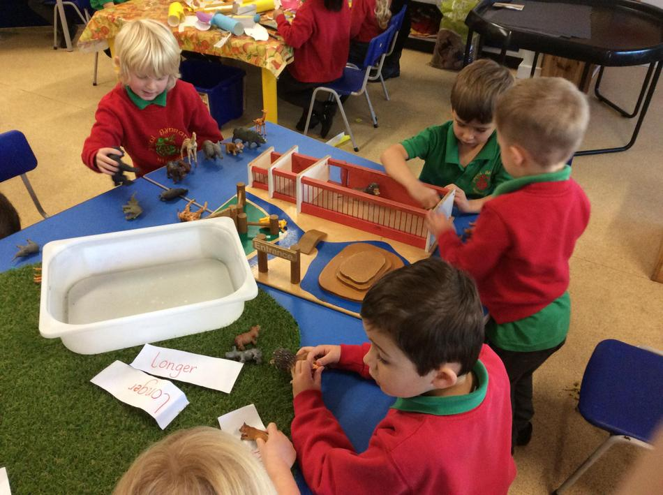 We loved the jungle animals so much in our maths zone that we made it into our small world