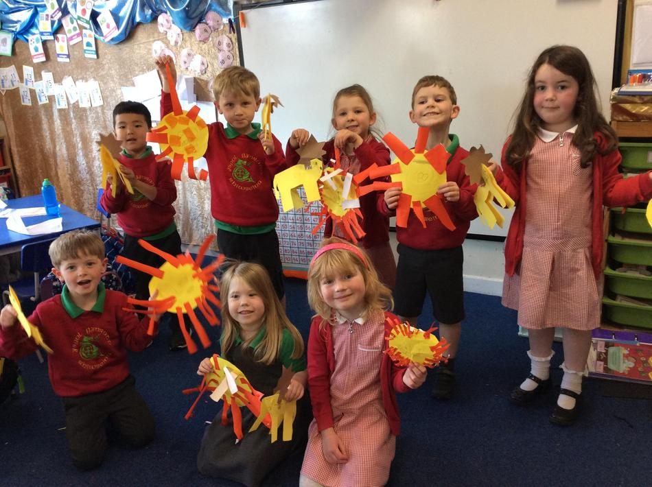 We were so proud we did lots of lion parades to celebrate!
