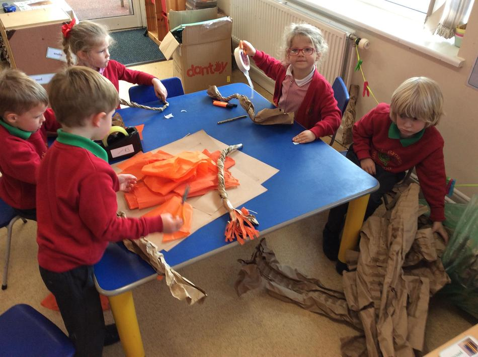 We made our own lion tails!