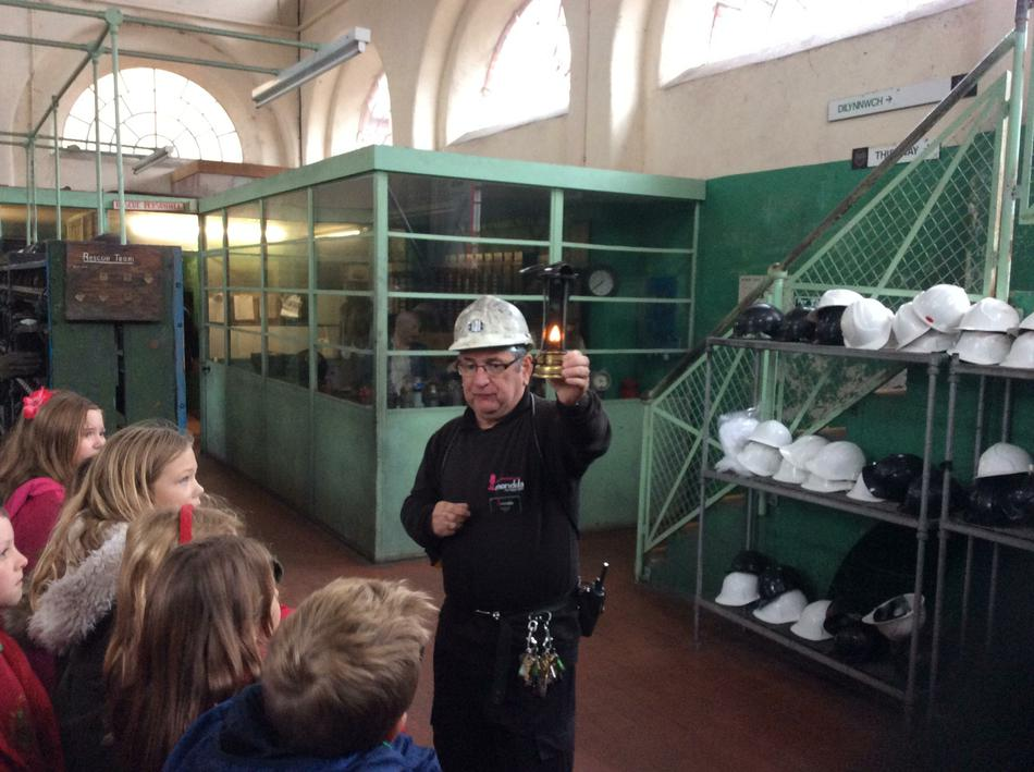 Learning about the importance of the Davy Lamp.