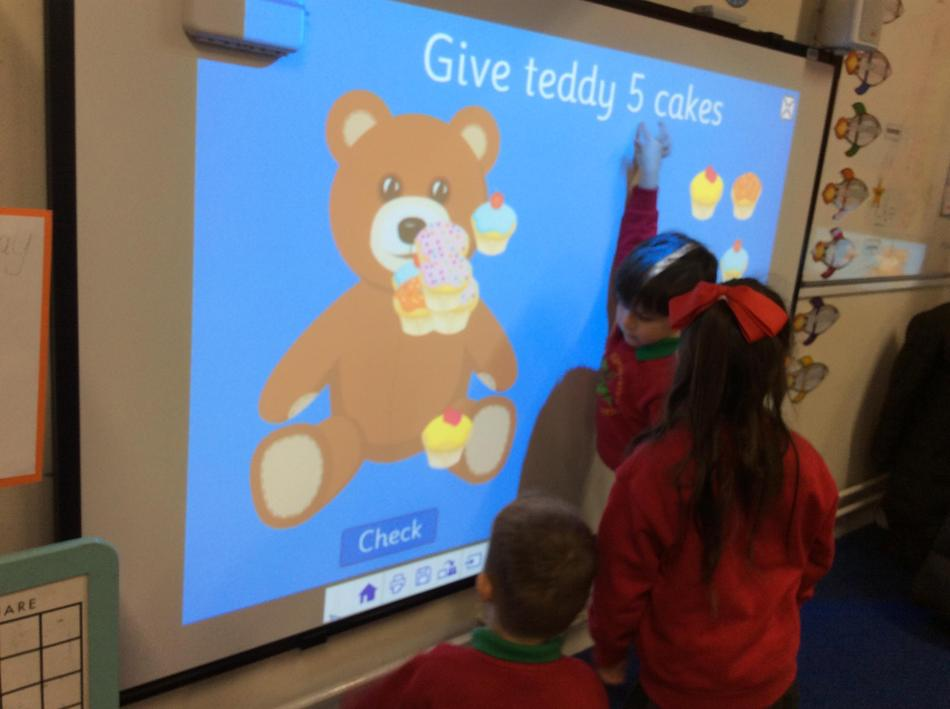 Using our interactive projector to count
