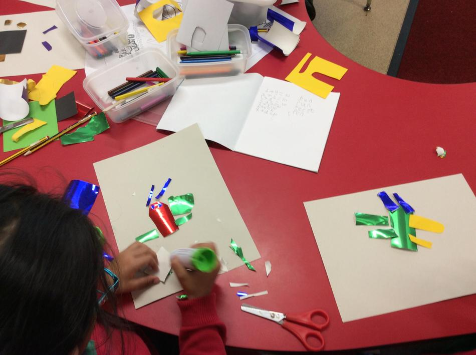 Creating collages in the style of Henri Matisse