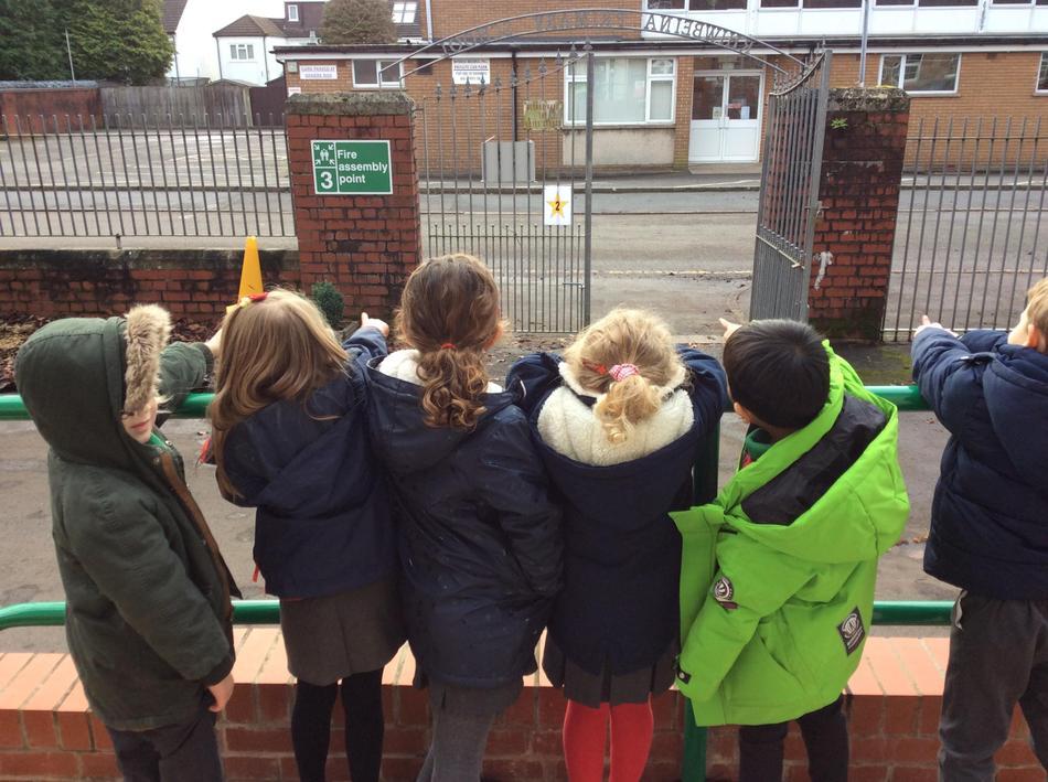 Then the school gates...