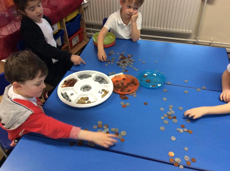 We had so many coins to sort!