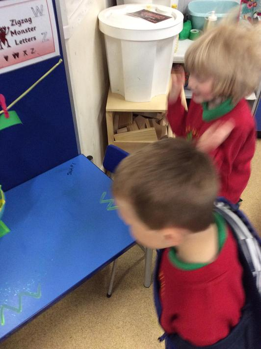 The selfish crocodile left crocodile slime from the swamp all around our classroom!