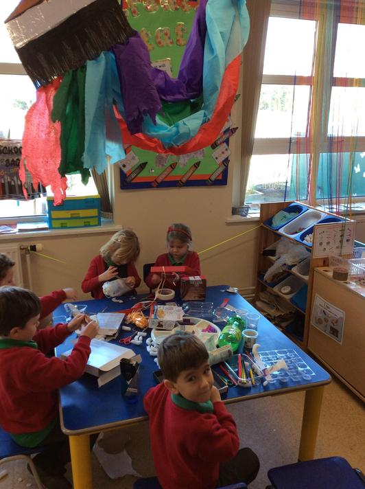 We have had lots of pirate challenges in the creation station!