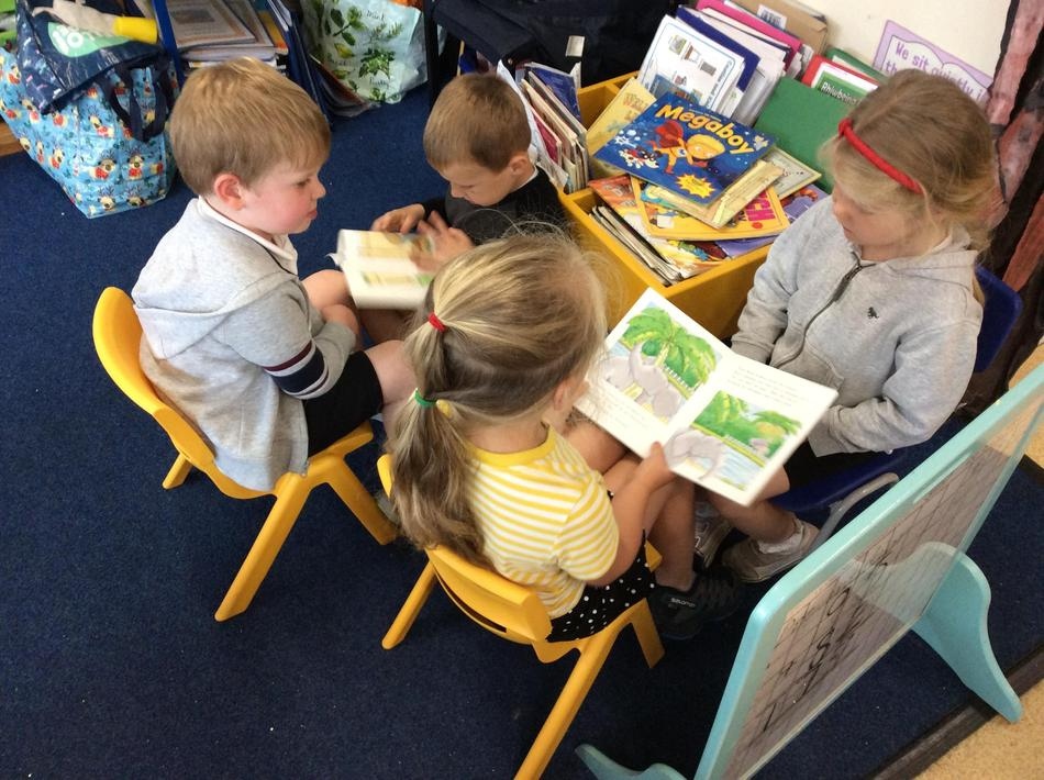 We love sharing and reading books to each other with our phonics!