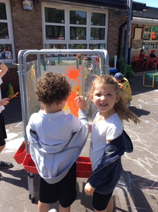 We painted our own fantastic dragons.