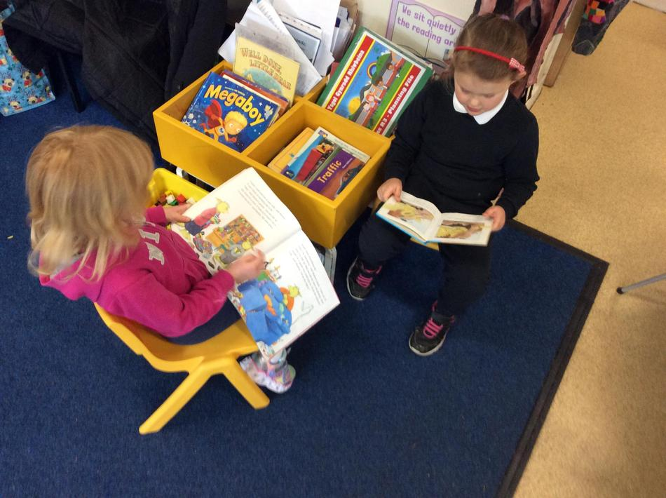 As always, our book corner chairs under our imagination tree are never empty!