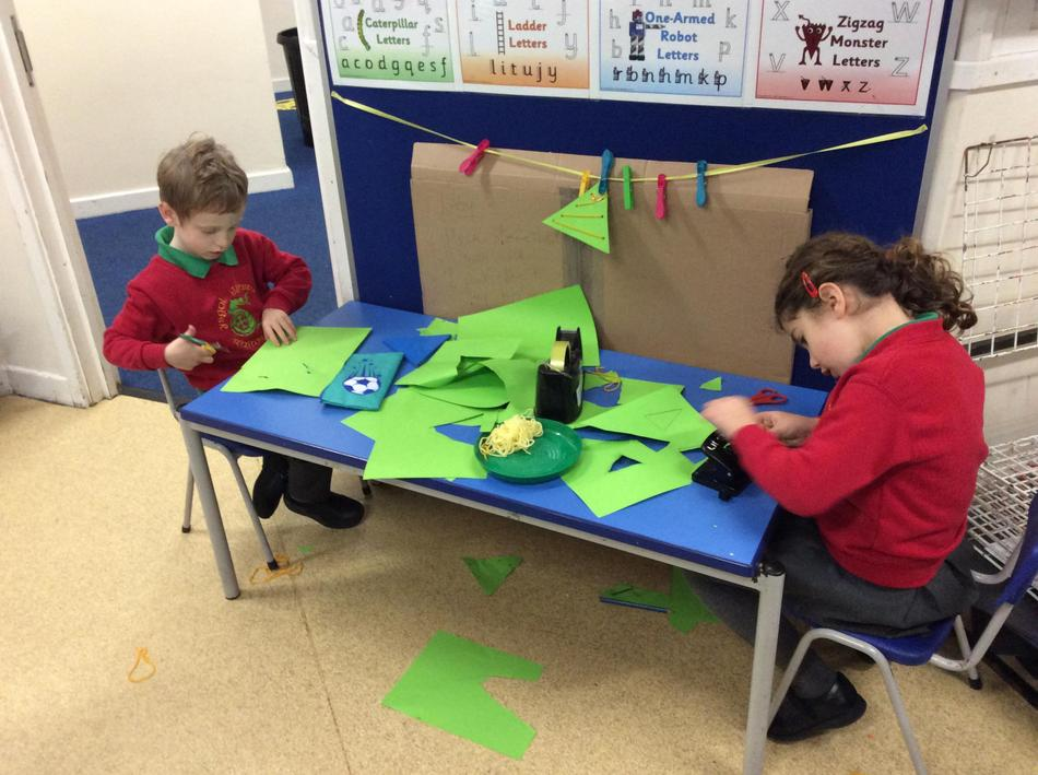 We have been making our own threading boards - Christmas trees...
