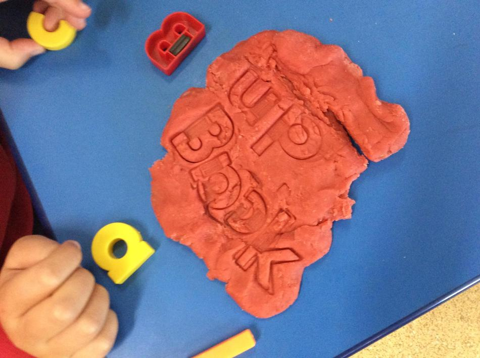 We made high-frequency words in our playdough too!