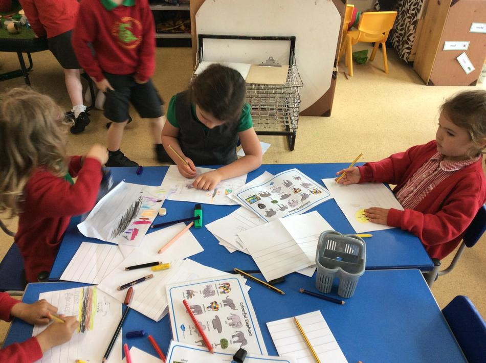 Pupil Voice - Making our own Elmer stories.