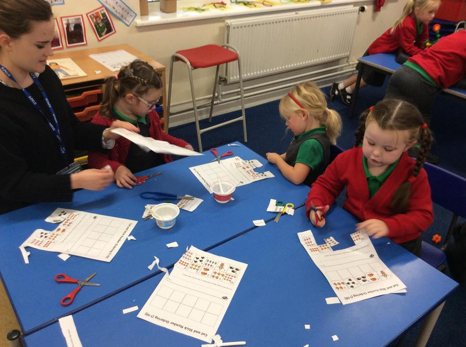 Cutting, counting and sticking!
