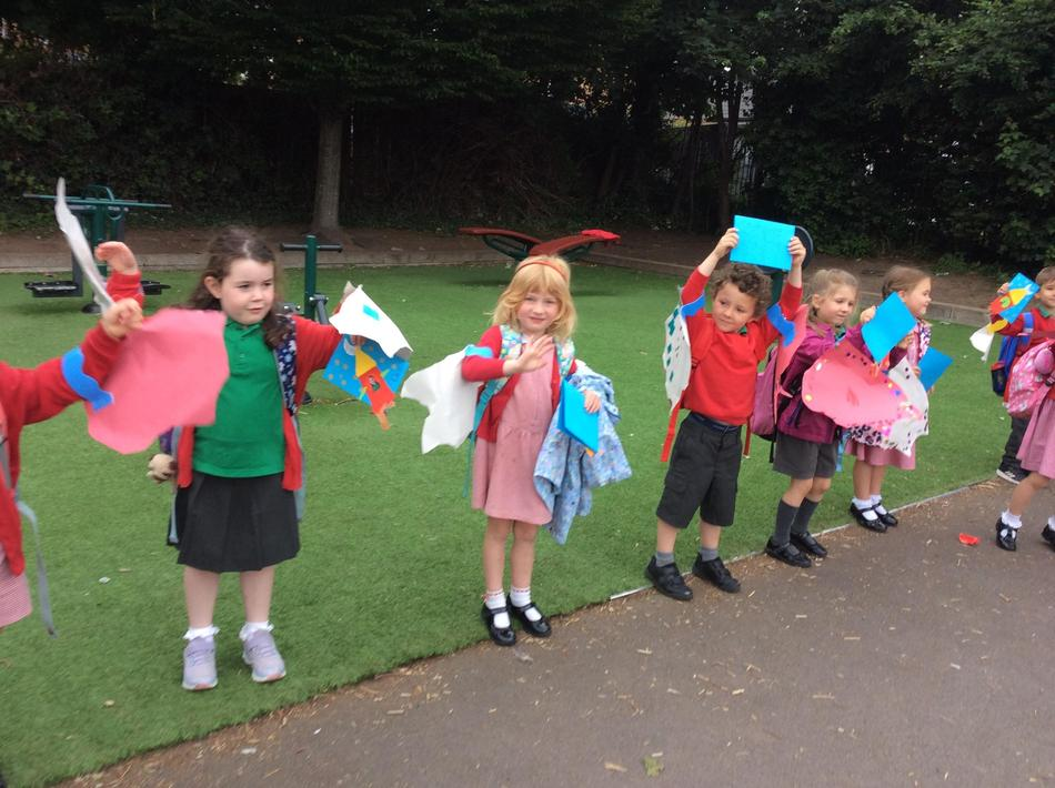 We made dragon wings!