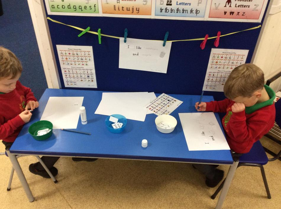Making our own sentences using our new high-frequency words