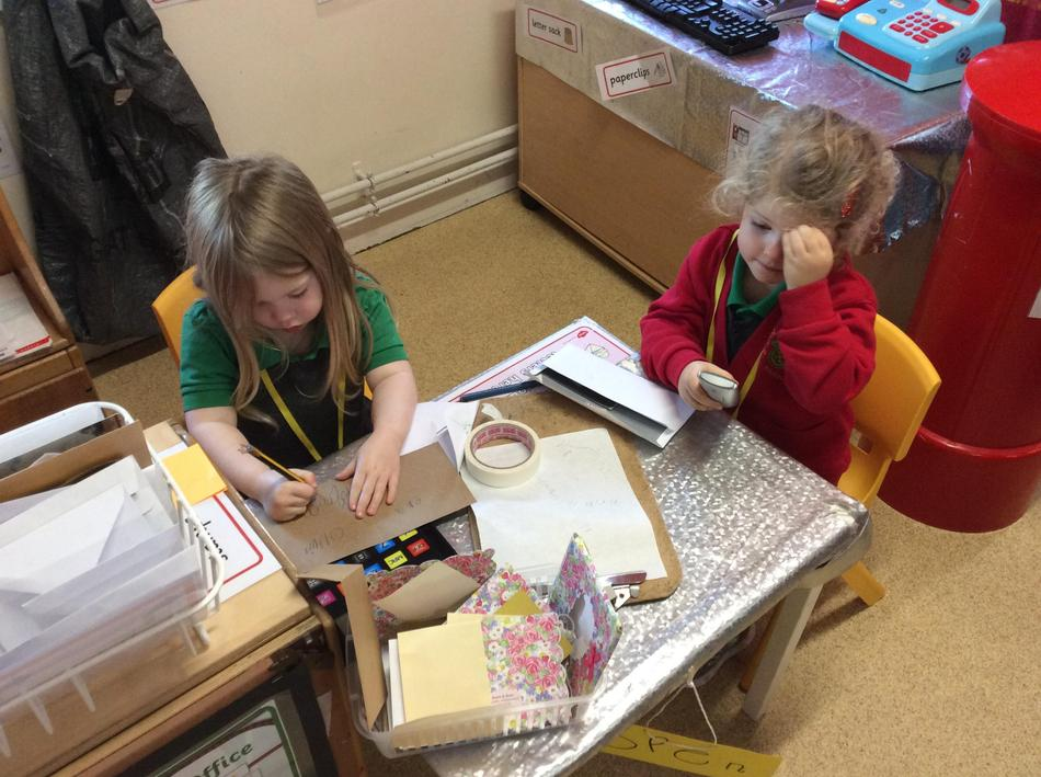 Writing letters and calling customers!