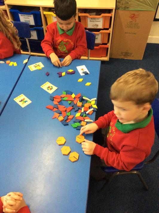 We tried to make our own Rangoli patterns.