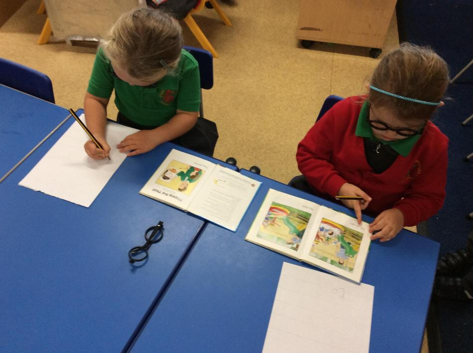 A high-frequency word hunt with our detective glasses!