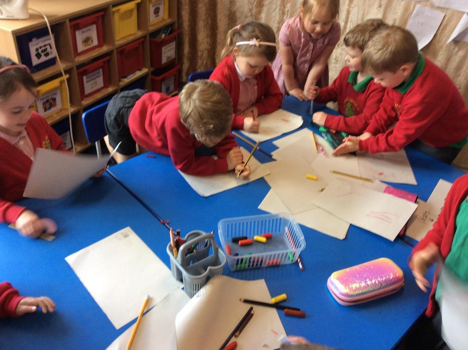 Busy making our maps!