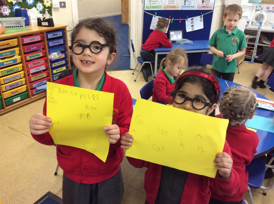 We have been High Frequency Word detectives! Look at all the HFWs we have found!!