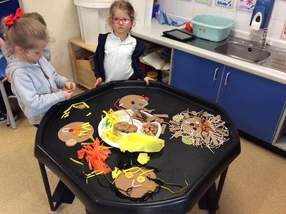 We created our own lion faces using simple resources. They looked amazing!