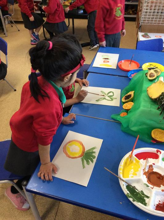 We all loved painting the pineapple!