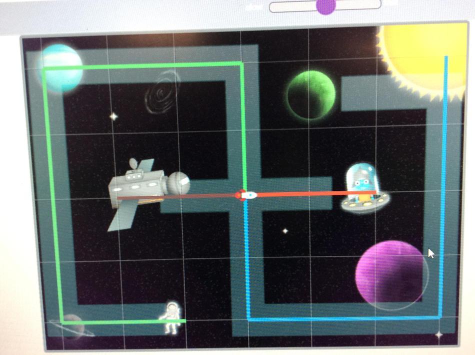 through the space scene using 2go.
