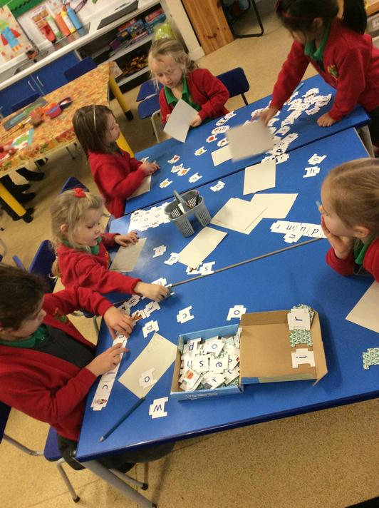 We did some cvc word building this week!