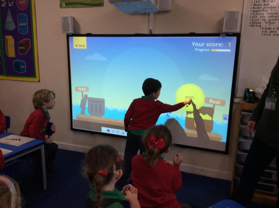 We love using the interactive board