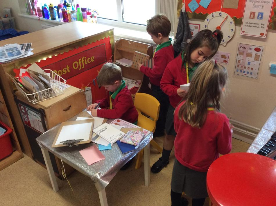 Our new role play of the Post Office is proving very popular!