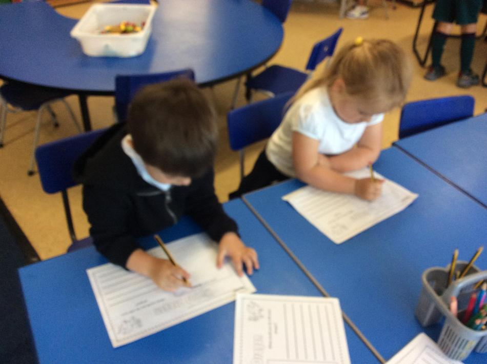 Writing about our pet dragon!