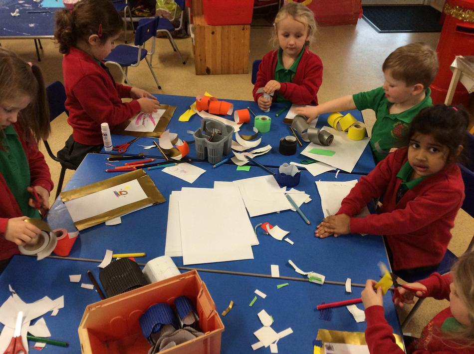 We made our own elf stamps...we loved this activity.