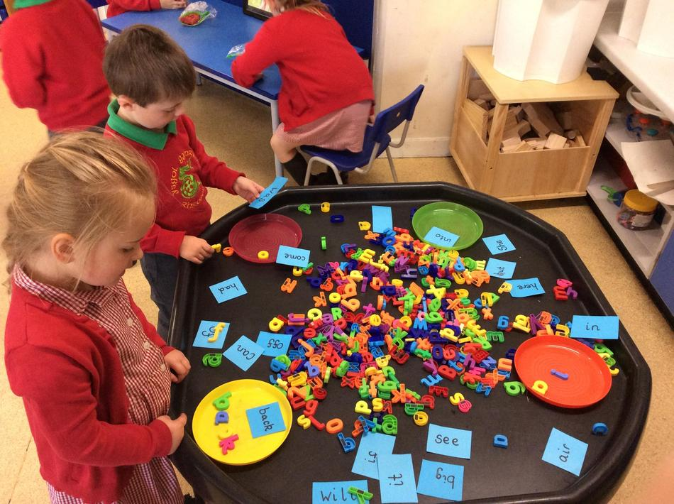 We made so many words - Mrs Addicott was super proud of us all.