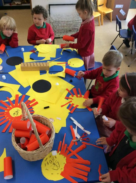 We made our own lion faces using our cutting skills.