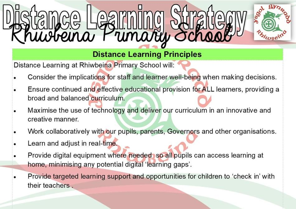 Distance Learning Principles
