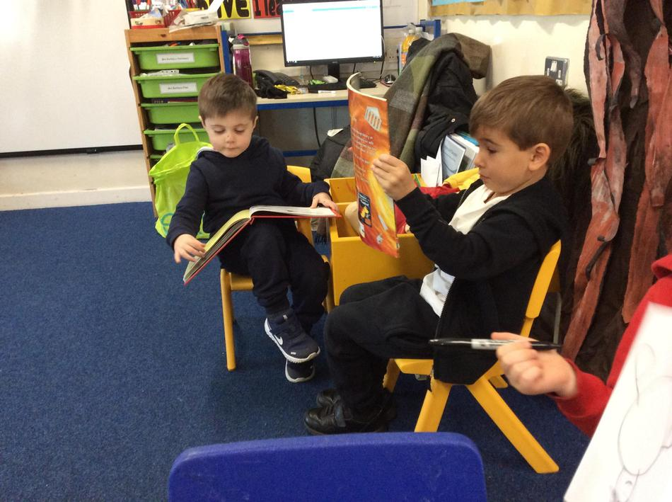 We read our story of the Jolly Christmas Postman