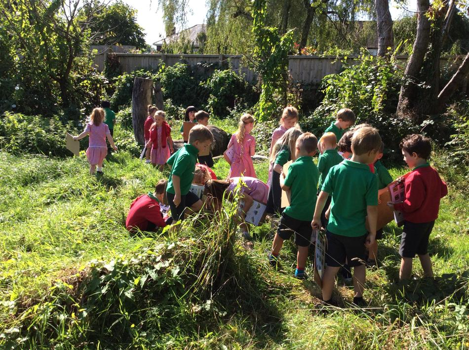 Our Forest Schools area is full of Minbeasts!