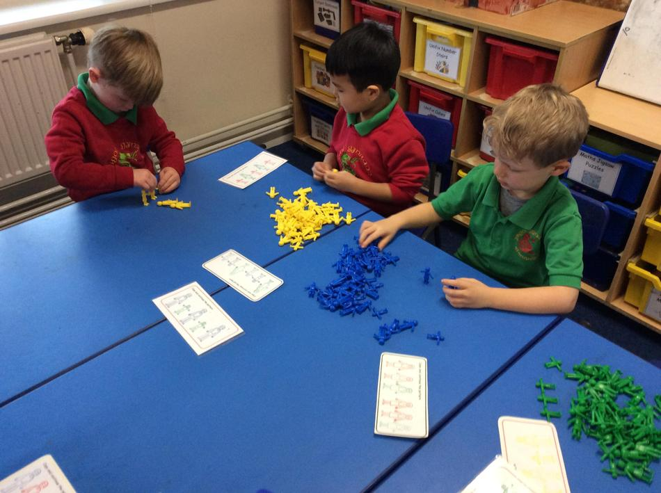 We made patterns and linked the elves together!