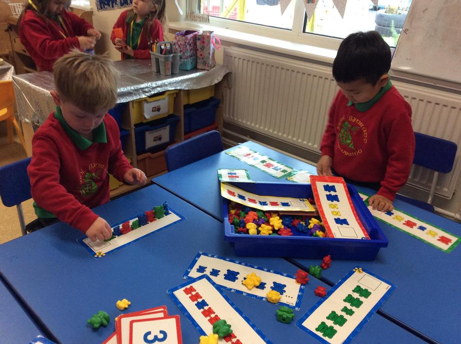Creating patterns using the compare bears