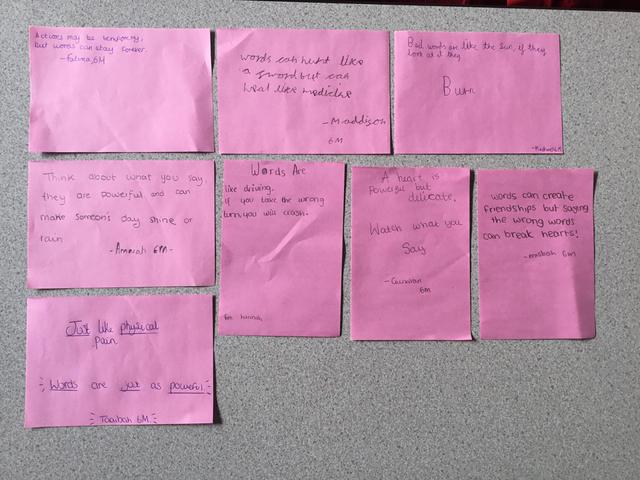Here are some of the quotes 6M created about the power of words.