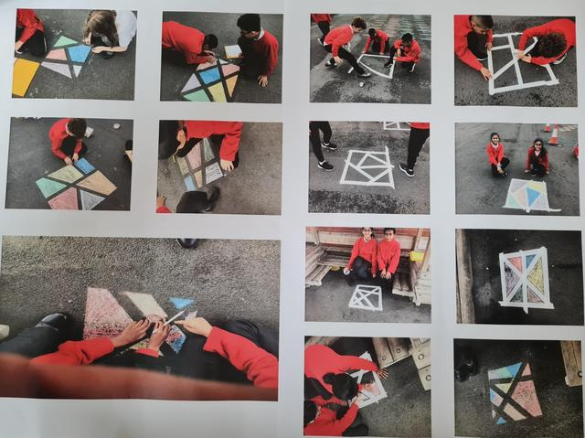 Mr Moran undertook a maths challenge with Y6 to create angles in the outdoors
