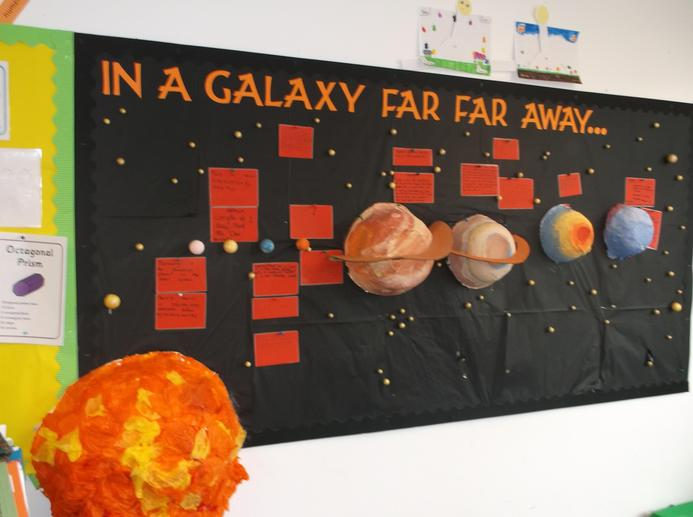 Cross curricular Science display in 5F