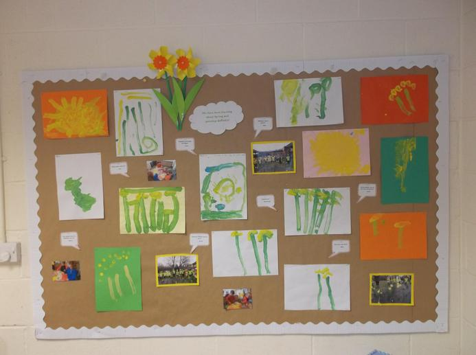 Beautiful daffodil artwork from Nursery!