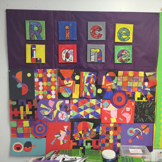 5F. Each letter is linked to an artist's style!