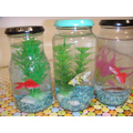 Carefully created aquariums